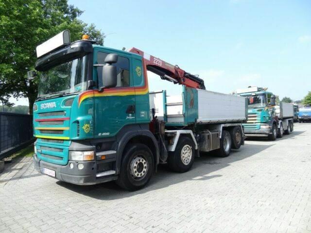 Scania R480 8X2*6 Kipper mit Kran HMF 2220 K5