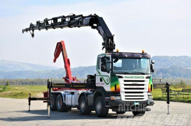 Scania R480 Abrollkipper 5,70m + HIAB 377 E-6HIPRO/FUNK