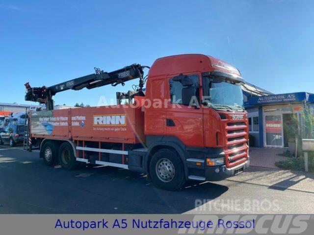 Scania R480 Pritsche Baustoff Kran Fassi-Kran