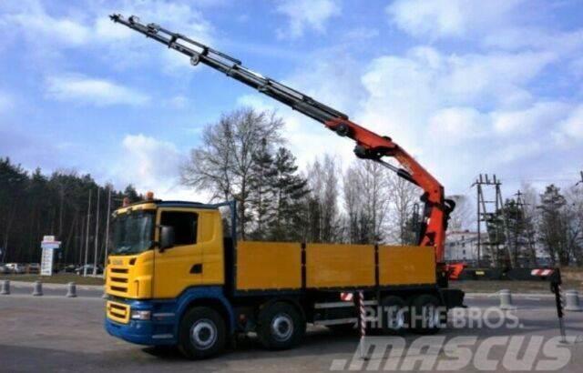 Scania R500 V8 8x4 PALFINGER PK 44002 G EURO 4 WINDE K
