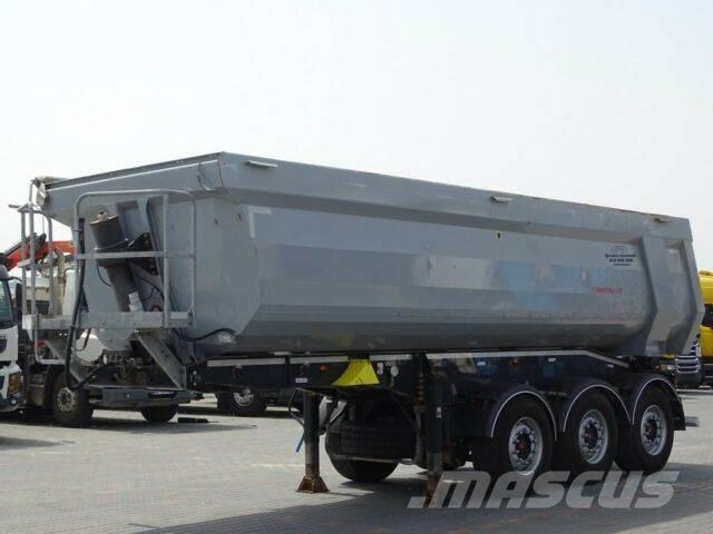 Schwarzmüller TIPPER 28 M3 / WHOLE STEEL /LIFTED AXLE/6200 KG