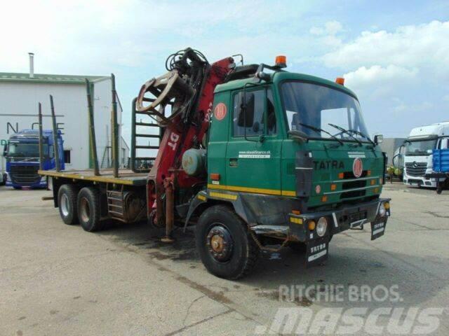 Tatra 815 P woodtransporter with crane 6x6 vin 573