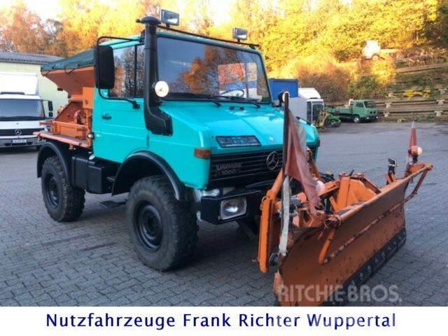 Unimog 424, U1000,neuerTÜV, Winter:Streuer+Schubschild