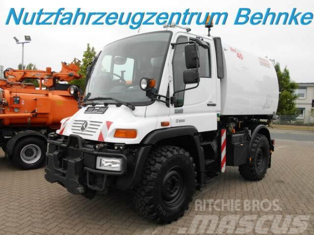Unimog U 300 RHD Bucher/ Schörling UNIfant 40/ 4m³