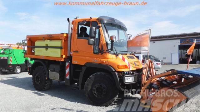 Unimog U400 BlueTec 4 Winterdienst Streuer + Pflug SH