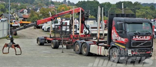 Volvo FH 12 460 Holztransporter CRAN+Anhänger