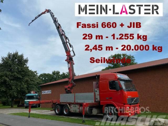 Volvo FH16 Fassi 660 JIB 29 m 1.250 kg Seilwinde Funk