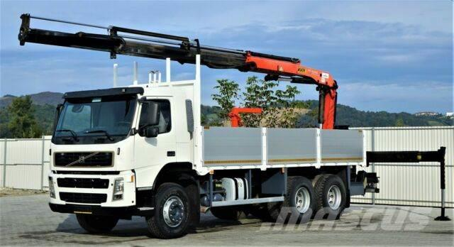 Volvo FM 12 380 Pritsche 6,30m + Kran/FUNK*6x4*