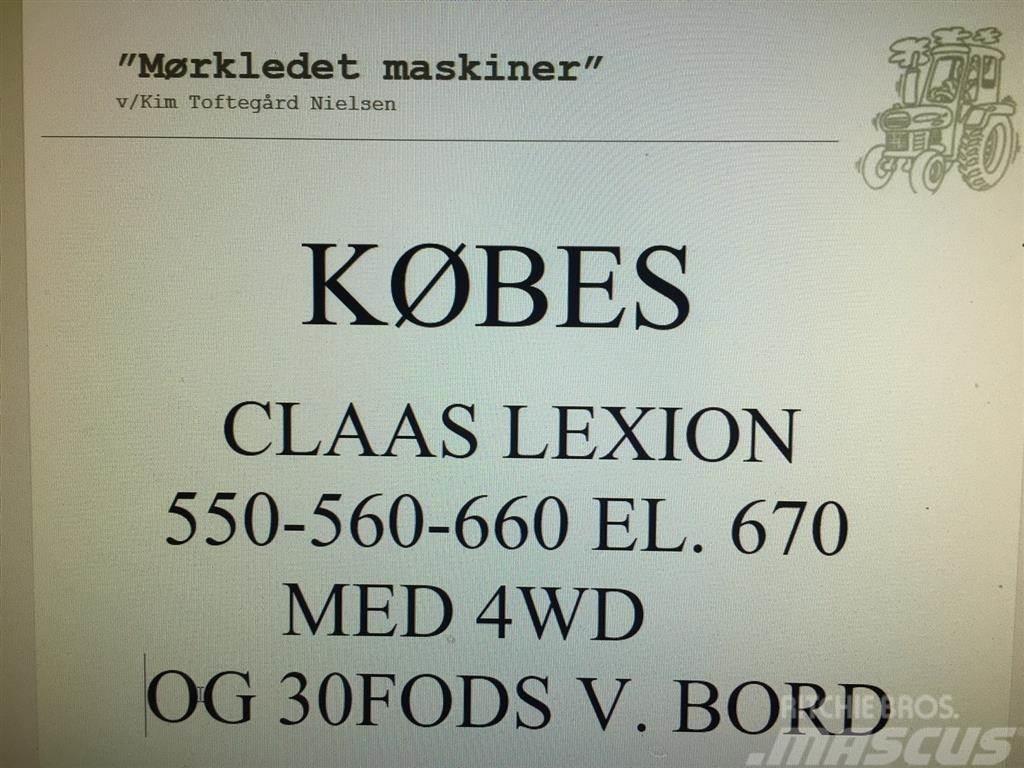 CLAAS KØBES CLAAS 550-560-660 EL. 670