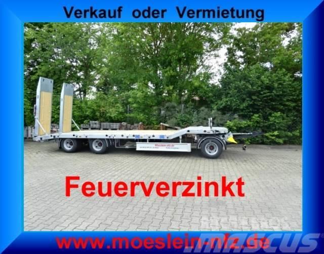 Möslein 3 Achs Tieflader Neufahrzeug, Feuerverzinkt