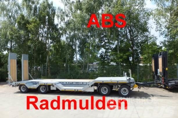 Möslein 4 Achs Tieflader mit Radmulden, ABS