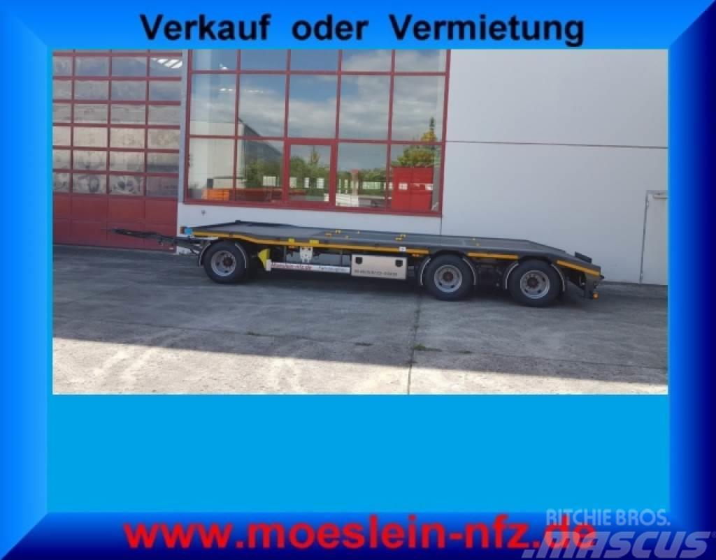 Möslein MTH 3 3 Achs Kombi- Tieflader- Anhänger fürAbroll