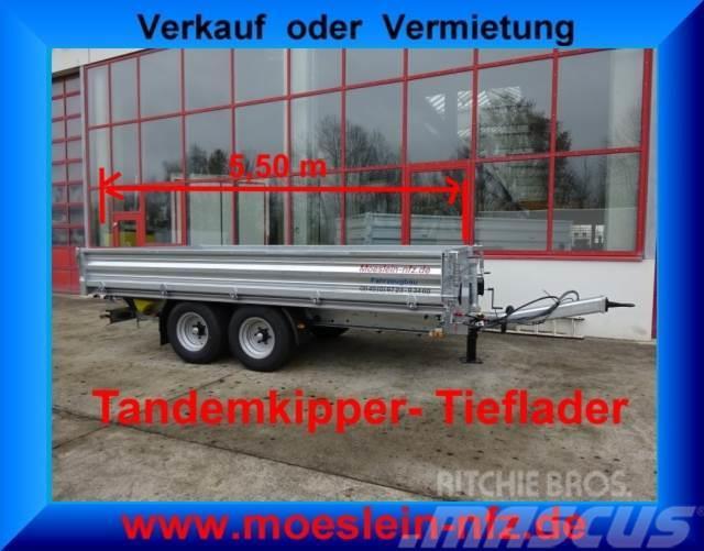 Möslein Tandem 3 Seiten Kipper Tieflader, 5,54 m lang