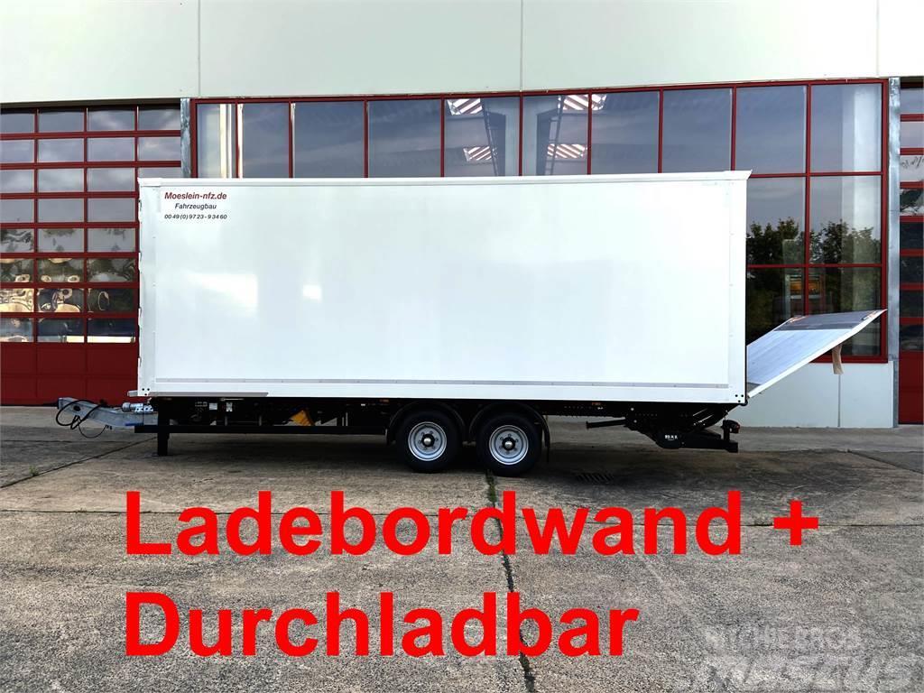 Möslein TK0105D-L Weiß Tandem Koffer, Ladebordwand 1,5 t