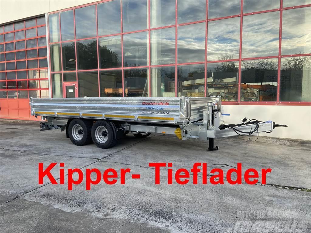 Möslein TTD 11 Breite Reifen Kipper Tieflader, Breite Rei