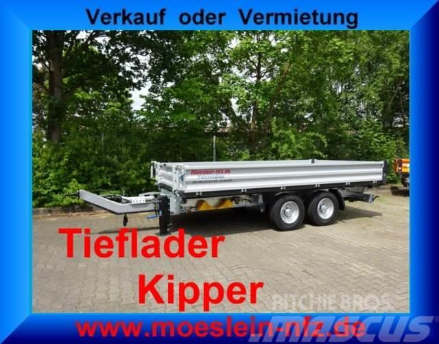Möslein TTD 13 Silber 13 t Tandem 3- Seitenkipper Tieflad