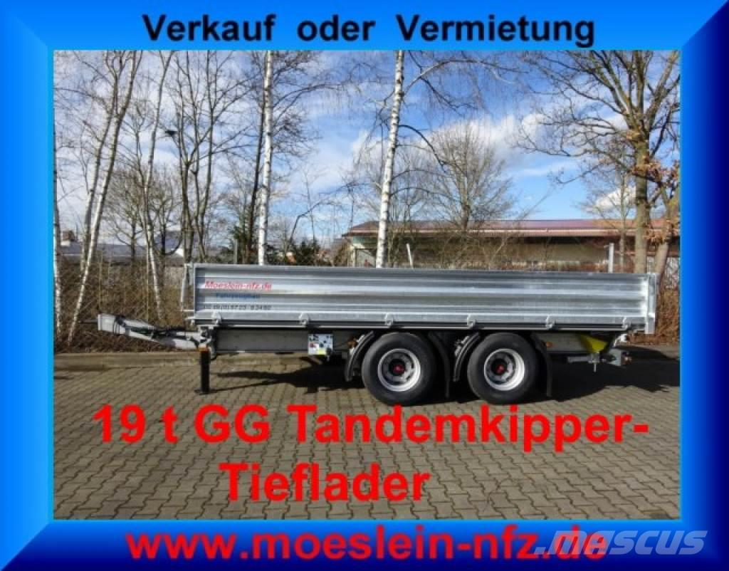 Möslein TTD 19 19 t Tandem- 3 Seiten- Kipper Tieflader--