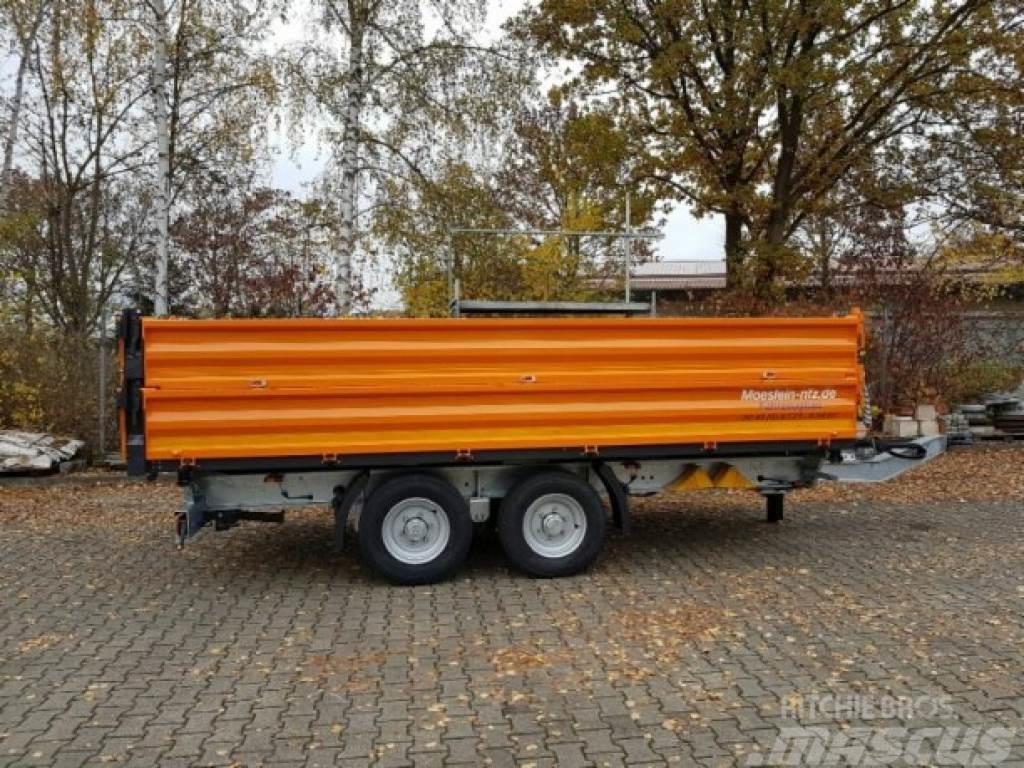 Möslein TTD13- BA Orange 13 t Tandem Kipper Tiefladermit