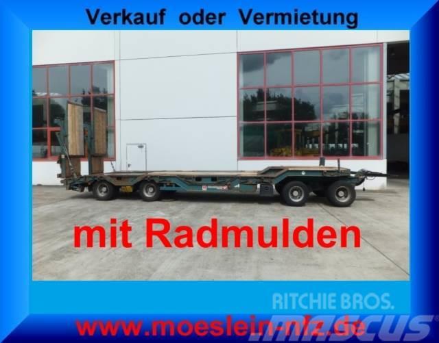 Müller-Mitteltal 4 Achs Tieflader Anhänger mit Radmulden