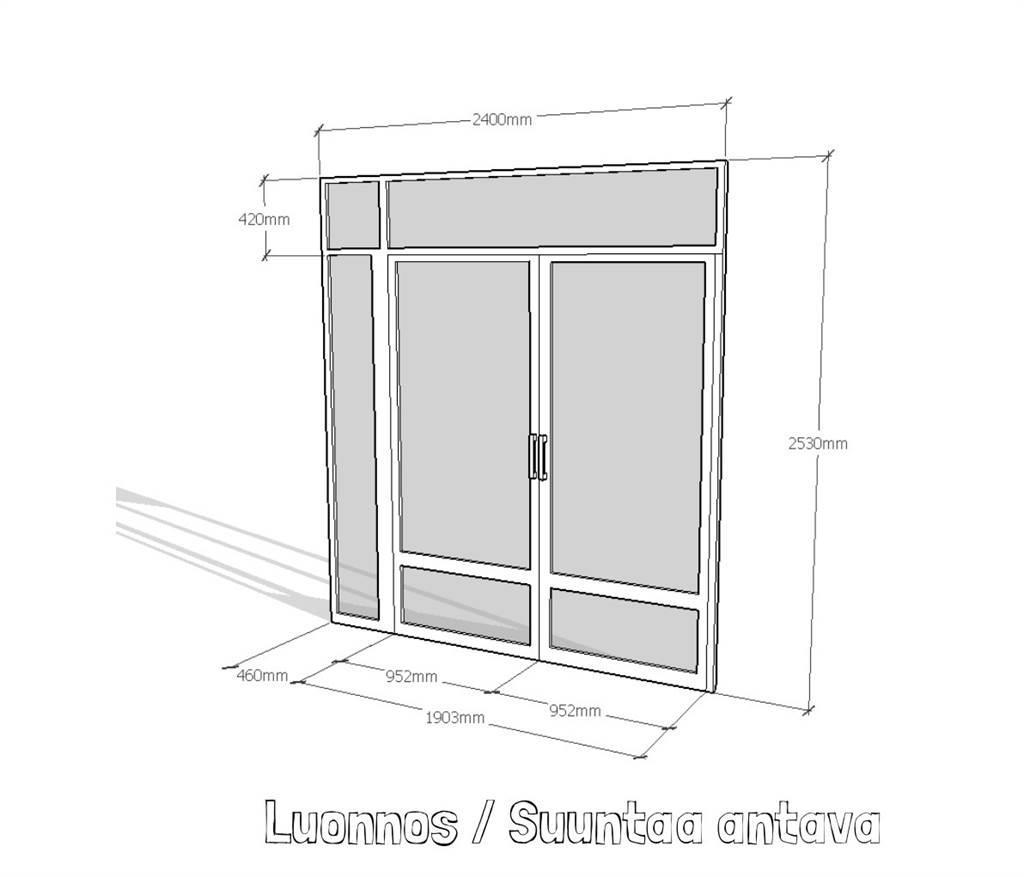 [Other] Metallirakenteinen ovikehik Teollisuuskiinteistöön