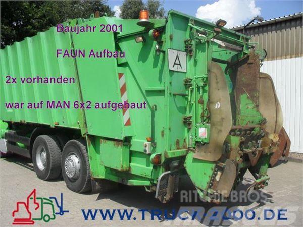 Faun Müllw Aufbau 22/ 901 E mit 80-1.1 Schüttung
