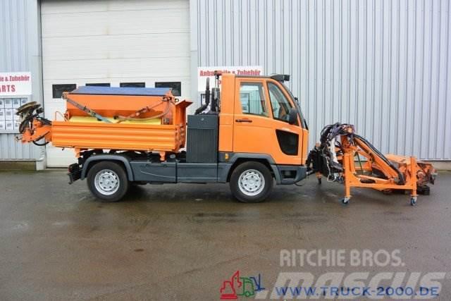 Multicar M30 4x4 Winterdienst Salzstreuer + Frontmäher