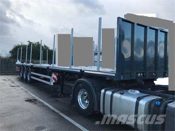 Used fruehauf plateau chassis porte conteneurs flatbed for Porte conteneur