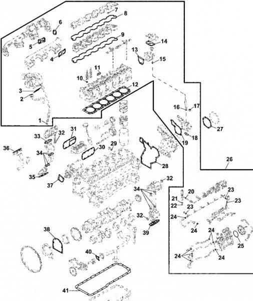 John Deere RE527551 GASKET KIT