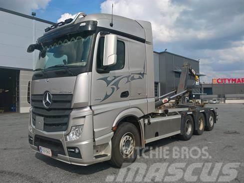 Mercedes-Benz Actros 3551 8x4*4, 2016, Hook lift trucks ...