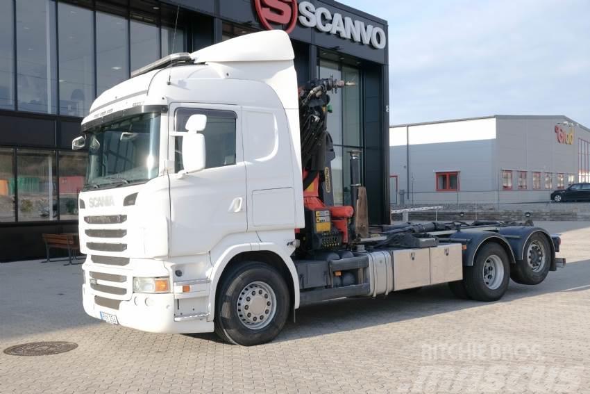 Scania R 480 Palfinger Växlare och kran