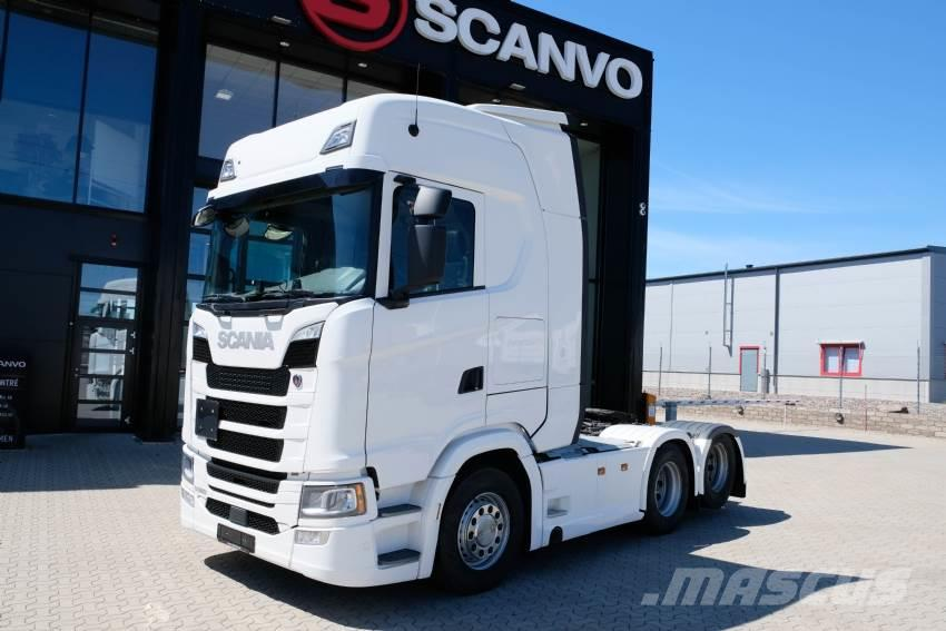 Scania S 500 6x2 dragbil 17 600 mil