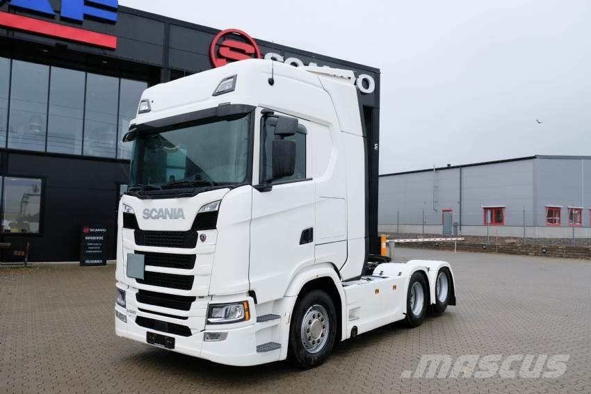 Scania S 500 6x2 dragbil 19 500 mil