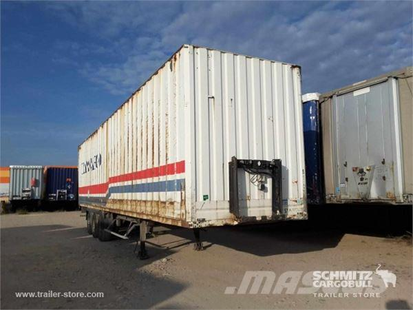 Used k gel fourgon porte v tement box body semi trailers for Porte vetement
