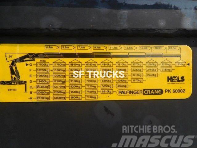 Scania 8x2 grue 60tm palfinger 60tm 8 extention