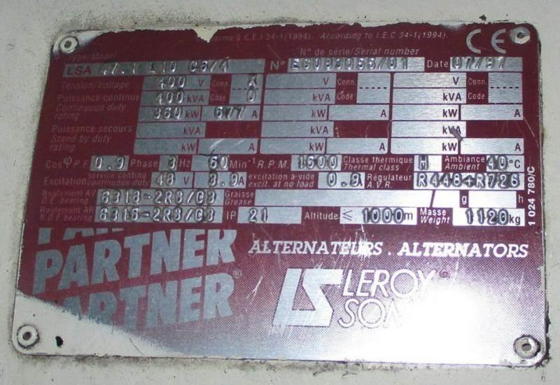 Leroy Somer 400 kVA