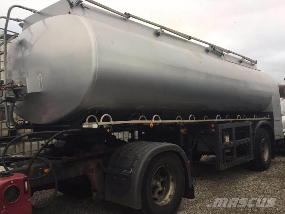 Single Axle Fuel Tanker : Used tanker single axle other semi trailers price