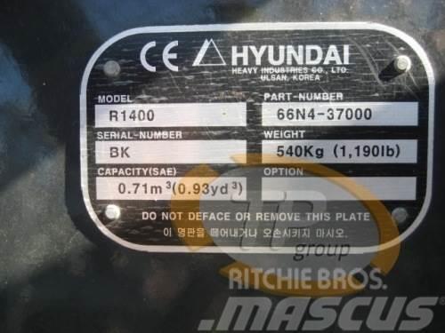 Hyundai 66N4-37000 Schaufel Hyundai R1400 R140, 2014, Övriga