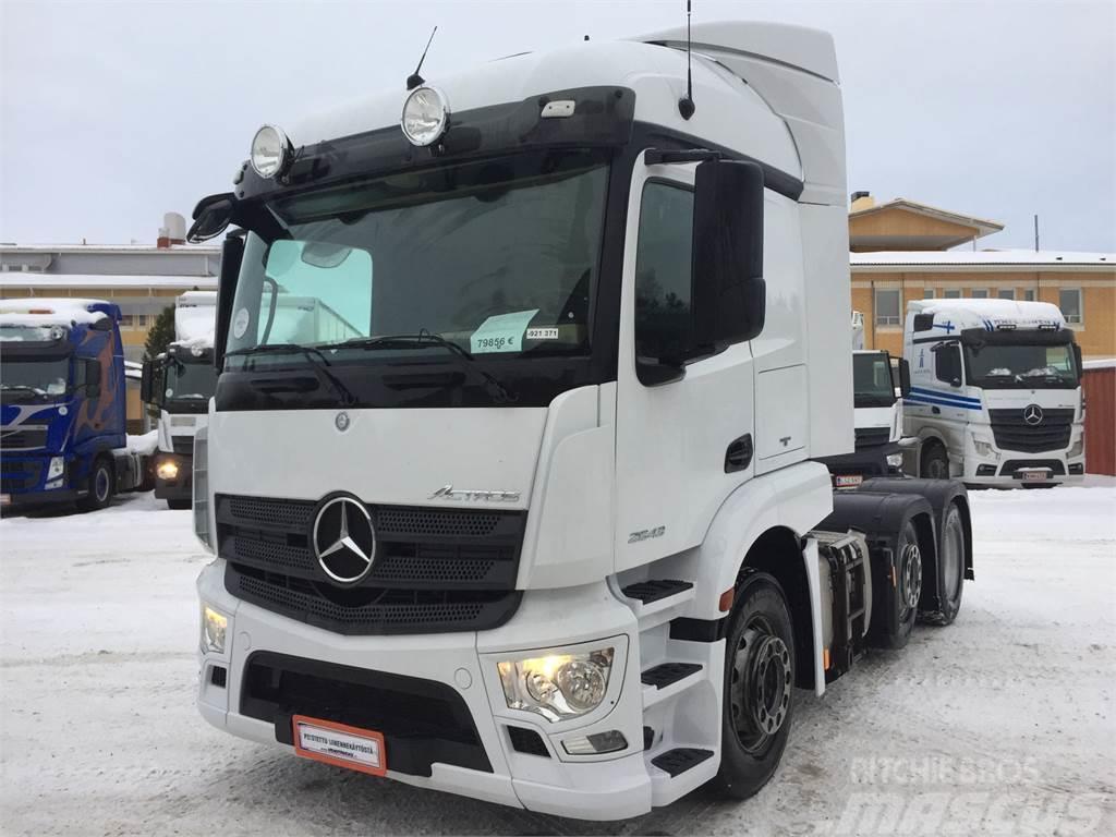 Mercedes-Benz Actros 2543 LS 6x2/4, Vetopöytä, 2015, Truck Tractor ...
