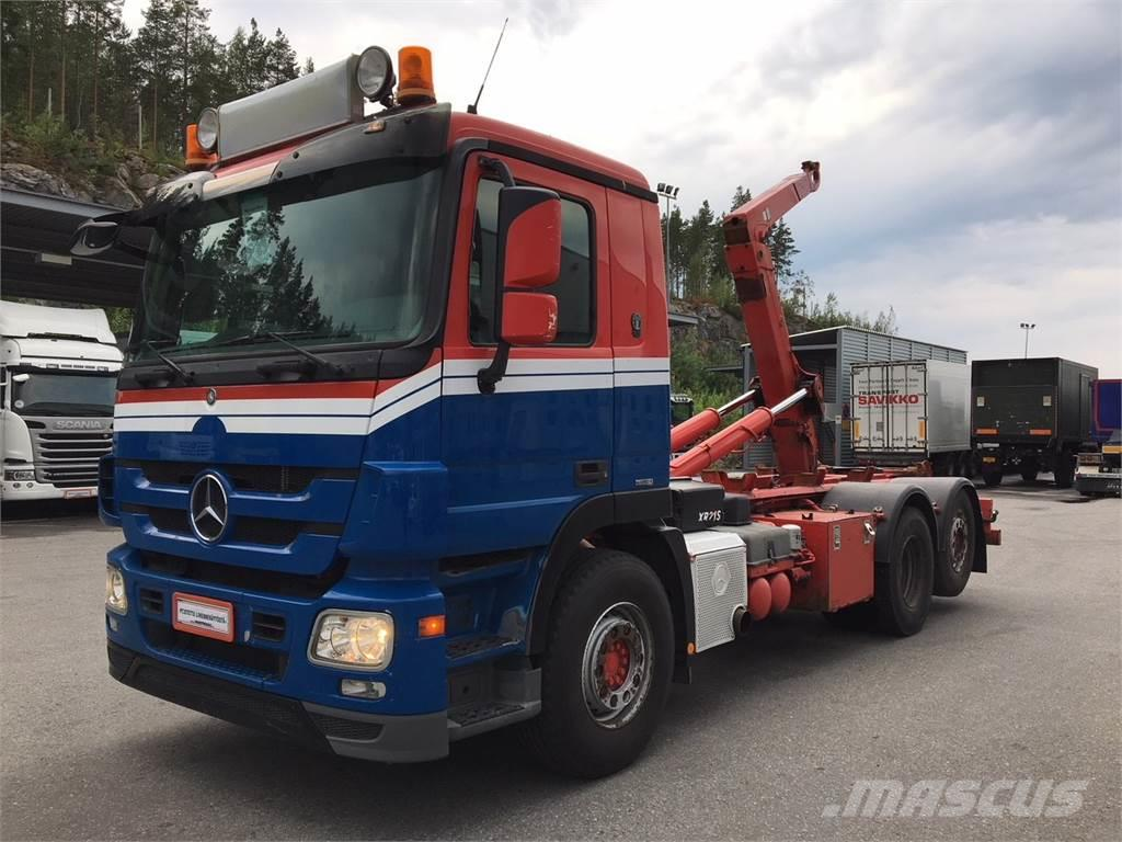 Mercedes-Benz ACTROS 2544 6X2, 2010, Hook lift trucks ...