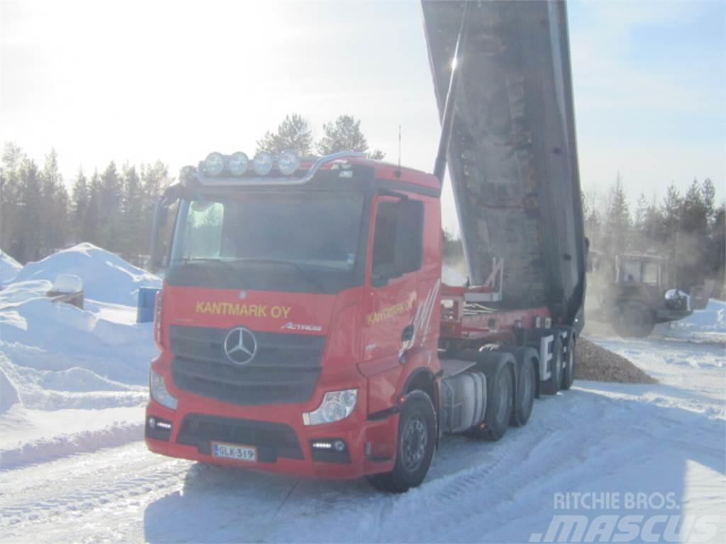 Mercedes-Benz Actros 2651 LS/6x4 kippihydrauliikka+ M&V Kivi ppv