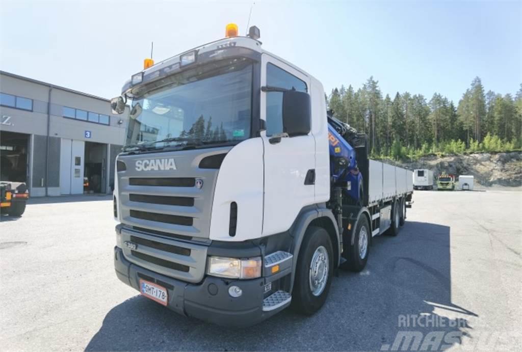 Scania G380 PM 40,5 Sp nosturi +Jibi + rahtilava
