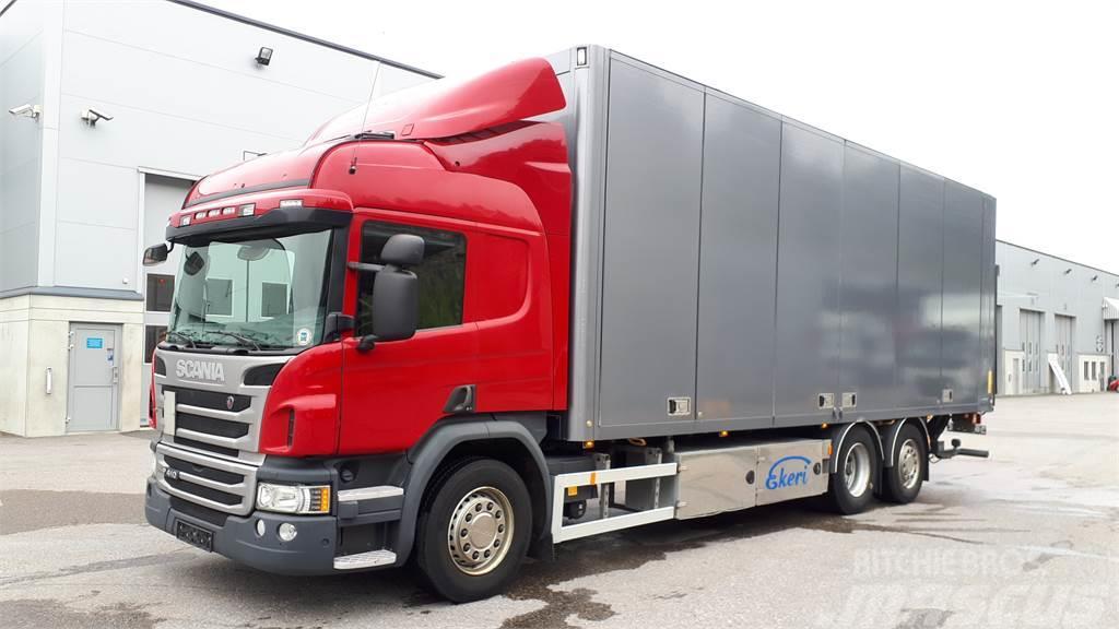 Scania P410 Kokosivunaukeava kori+PL