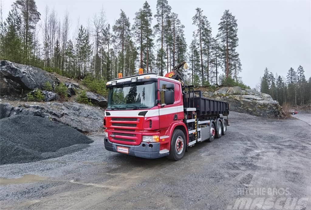 Scania P420 8x2 Koukkulaite + Palfinger PK27002 Nosturi