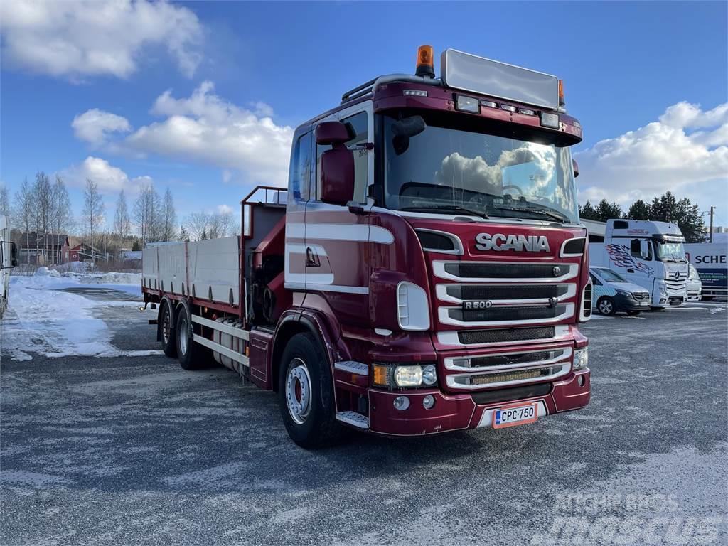 Scania R500 6x2*4 HMF 242 K 6 nosturi +rahtilava