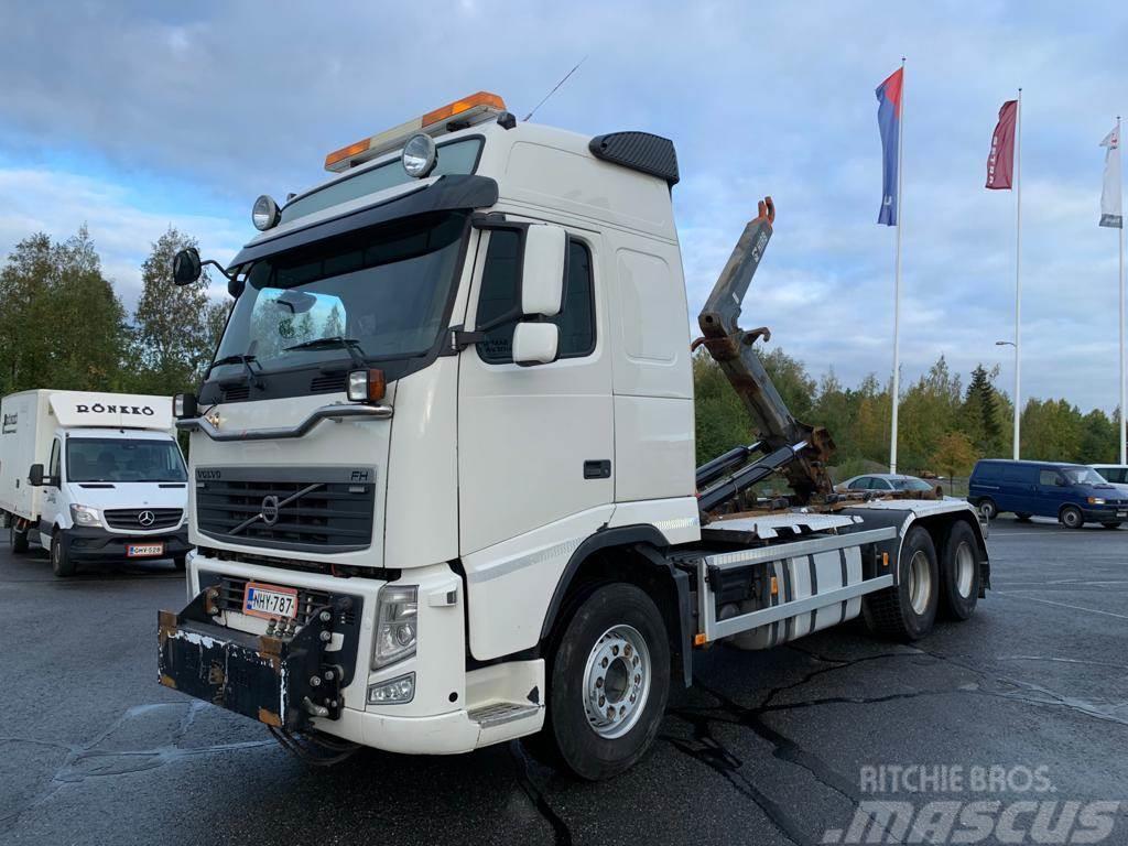 Volvo FH13 6x2 HIAB koukkulaite + auravarustus