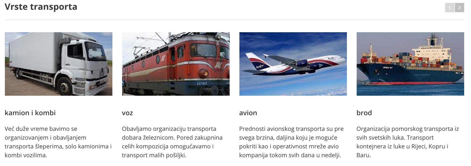 Ultra Speed d o o  - Transportation vehicles - Transport