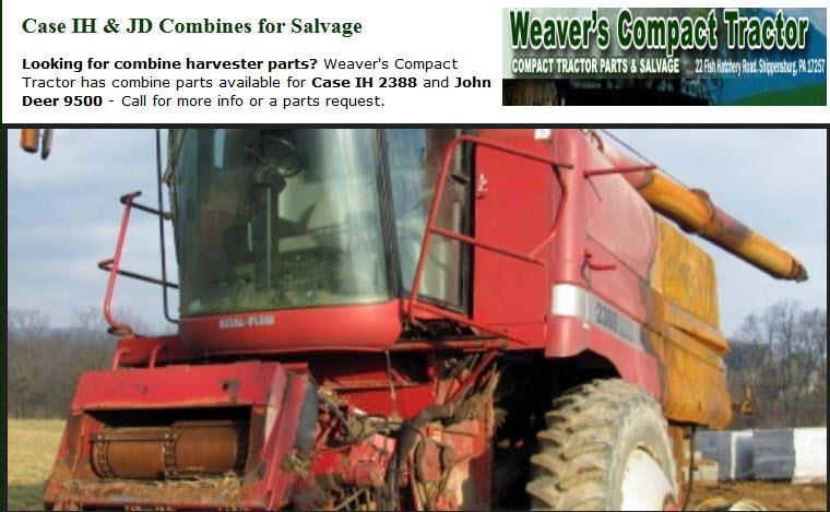 Weaver's Compact Tractor Parts - Agricultural equipment and